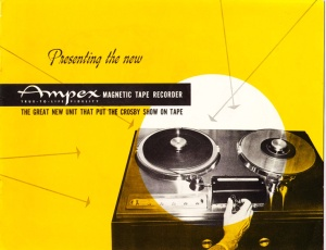 Ampex 200 brochure, part of MOMSR's ephemera collection.
