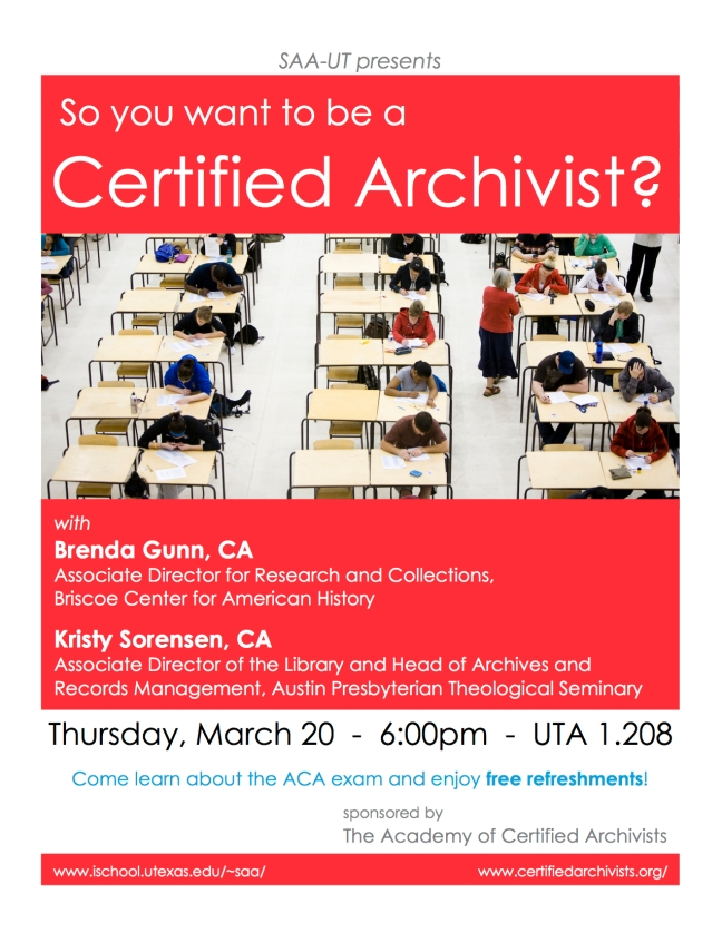 So you want to be a Certified Archivist?