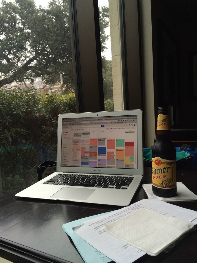 Google calendar and a beer