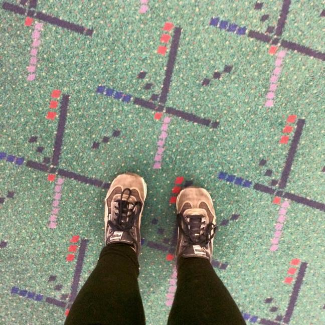 The famous Portland International Airport carpet