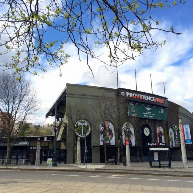 Providence Park, home of the Portland Timbers MLS team