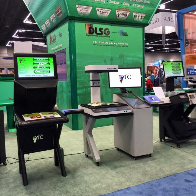 A few of the many scanners on display in the giant exhibit hall.