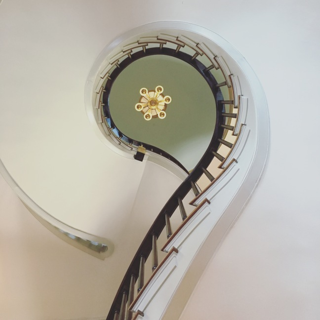Photograph of a spiral staircase